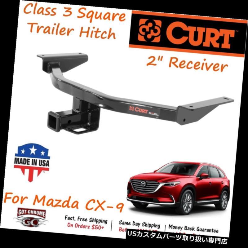 ヒッチメンバー 13284 Curt Class 3スクエアトレーラーヒッチ、2インチレシーバーチューブ(マツダCX-9用) 13284 Curt Class 3 Square Trailer Hitch with 2