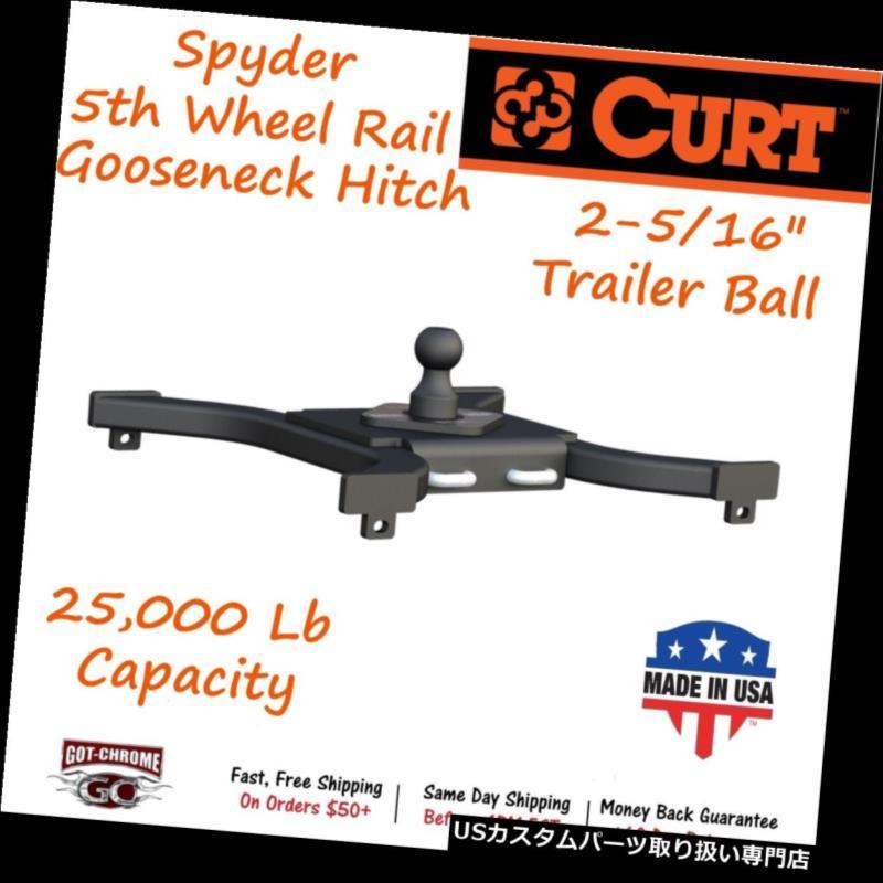 ヒッチメンバー 16085 Curt Spyder 5thホイールレールグースネックヒッチ(最大25,000ポンド) 16085 Curt Spyder 5th Wheel Rail Gooseneck Hitch with a GTW Up To 25,000LB