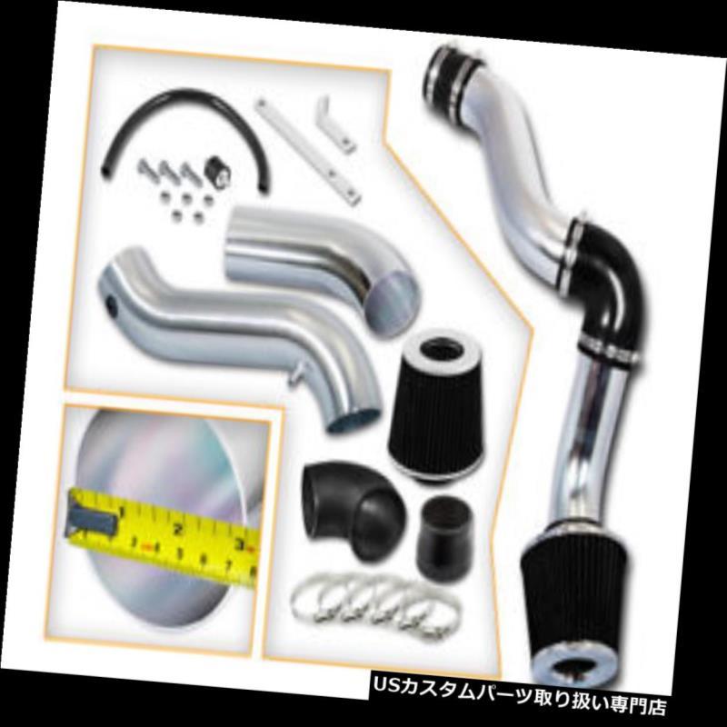エアインテーク インナーダクト ブラックコールドエアインテークキット+ DODGE 05-10チャージャーマグナム3.5L V6用ドライフィルター BLACK COLD AIR INTAKE KIT+ DRY FILTER FOR DODGE 05-10 CHARGER MAGNUM 3.5L V6