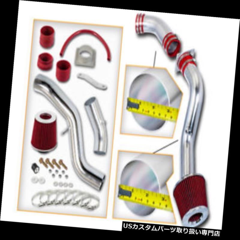 エアインテーク インナーダクト RED COLD AIRインテークキット+フィルターフィット03-06日産350Z 3.5L V6 Z33フェアレディクーペ RED COLD AIR INTAKE KIT+FILTER Fit 03-06 Nissan 350Z 3.5L V6 Z33 Fairlady Coupe