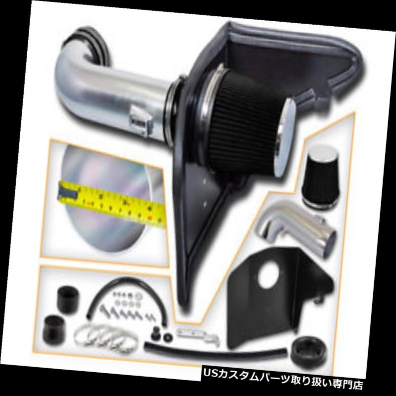 エアインテーク インナーダクト 10-14カマロSS 6.2L V8用のブラックエアインテークインダクションキット+ヒートシールド BLACK Air Intake Induction Kit + Heat Shield For 10-14 Camaro SS 6.2L V8
