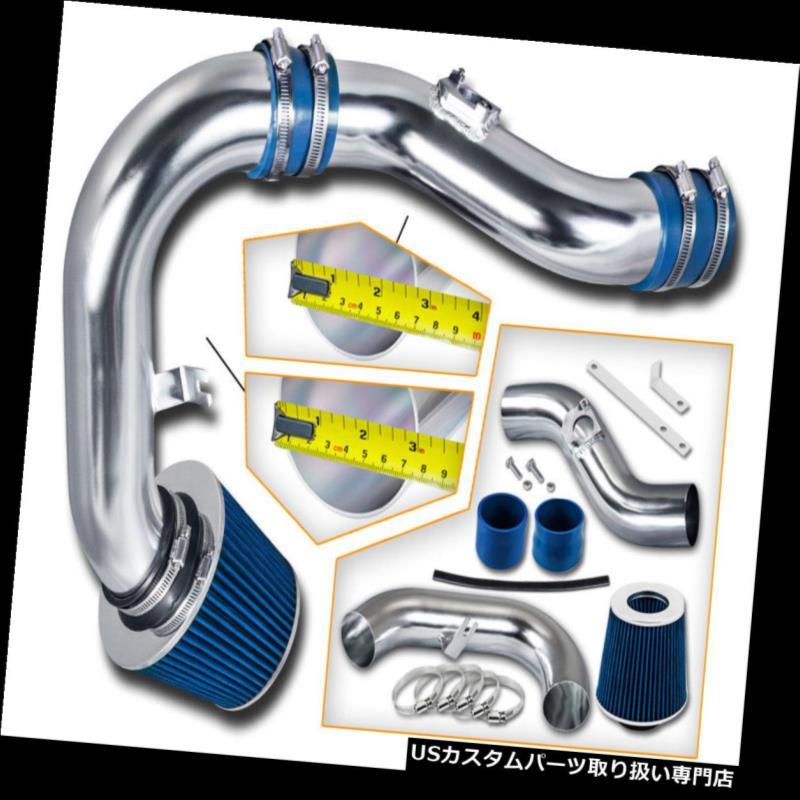 エアインテーク インナーダクト ブルーコールドエアインテーク+ドライフィルタースバル02-06インプレッサWRX 2.0L 2.5L Sti BLUE COLD AIR INTAKE+DRY FILTER For Subaru 02-06 Impreza WRX 2.0L 2.5L Sti