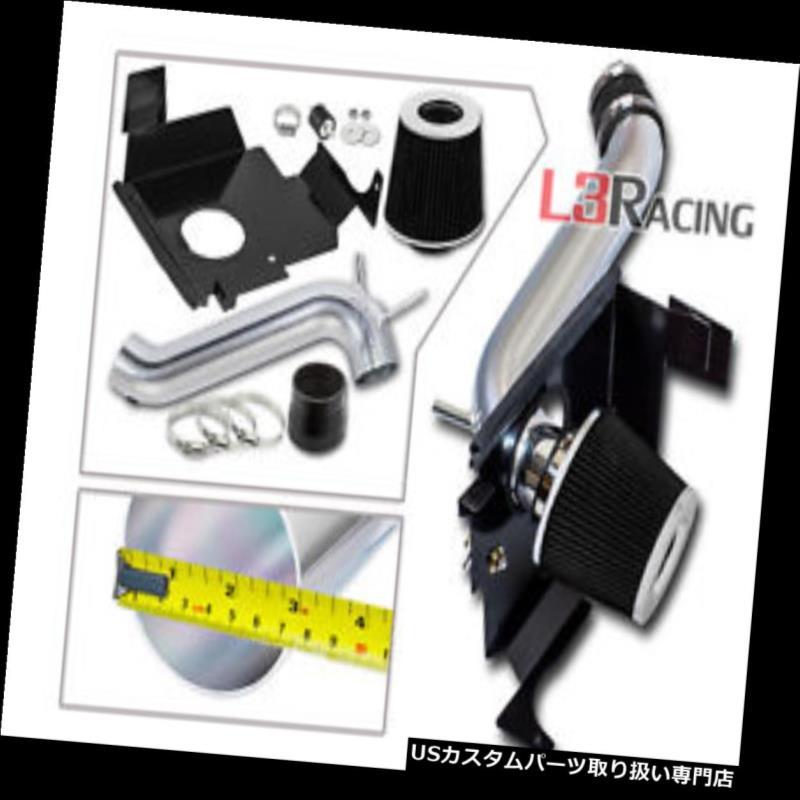 エアインテーク インナーダクト 08-10ダッジチャレンジャー3.5L V6用ブラックコールドエアインテークキット+ヒートシールド Black Cold Air Intake Kit + Heat Shield For 08-10 Dodge Challenger 3.5L V6