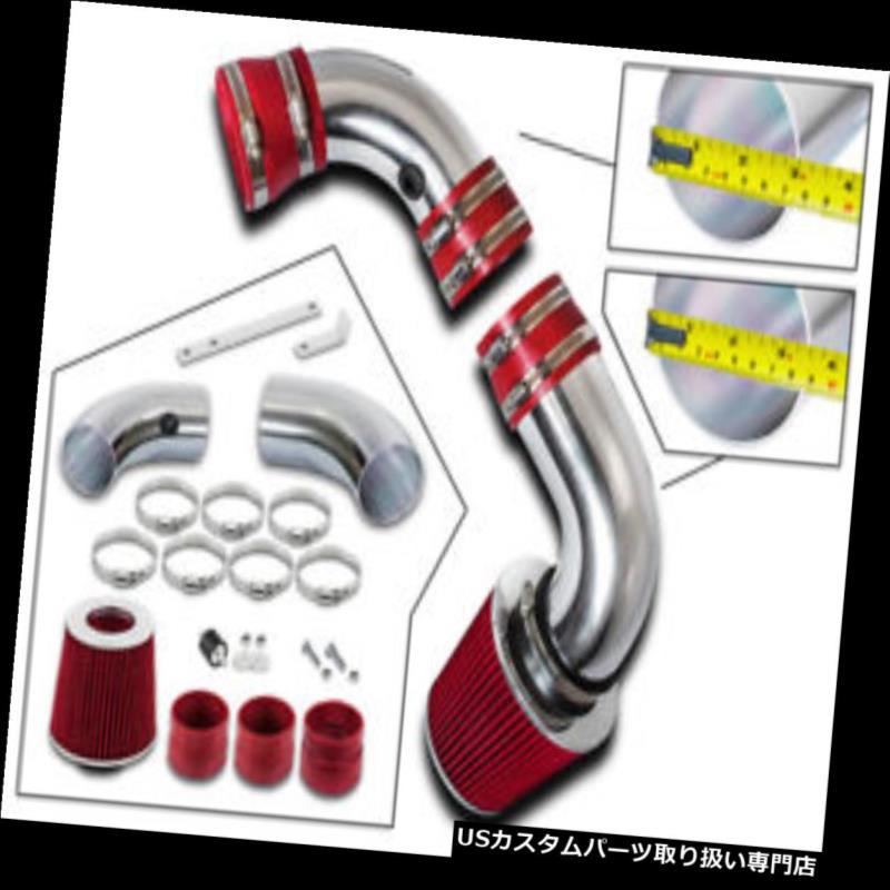 エアインテーク インナーダクト 96-04シボレーS10ブレザーGMCジミー4.3L V6のための冷たい空気摂取セット+赤フィルター COLD AIR INTAKE SET+RED FILTER For 96-04 Chevy S10 Blazer GMC Jimmy 4.3L V6