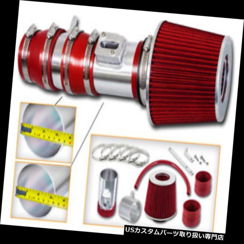 エアインテーク インナーダクト スポーツエアインテークキット+ホンダ08-12用レッドドライフィルター クロスストール3.5L V6 Sport Air Intake Kit+ RED Dry Filter for Honda 08-12 Accord & Crosstour 3.5L V6