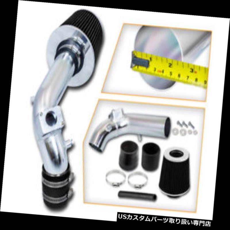 エアインテーク インナーダクト 三菱08-14ランサー2.0L 2.4L L4用スポーツエアインテークキット+ブラックドライフィルター Sport Air Intake Kit + BLACK Dry Filter for Mitsubishi 08-14 Lancer 2.0L 2.4L L4