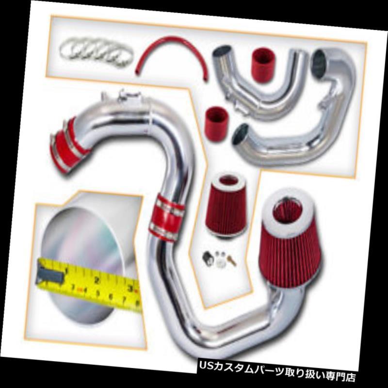 エアインテーク インナーダクト マツダ04-09 Mazda3 2.0L 2.3L L4のための赤く冷たい空気誘導の摂取キット+ドライフィルター RED COLD AIR INDUCTION INTAKE KIT+DRY FILTER FOR MAZDA 04-09 Mazda3 2.0L 2.3L L4