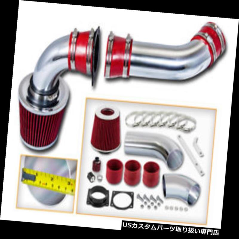 エアインテーク インナーダクト マツダ01-03 B4000 4.0L V6のための赤く冷たい空気誘導の摂取キット+ドライフィルター RED COLD AIR INDUCTION INTAKE KIT + DRY FILTER FOR Mazda 01-03 B4000 4.0L V6