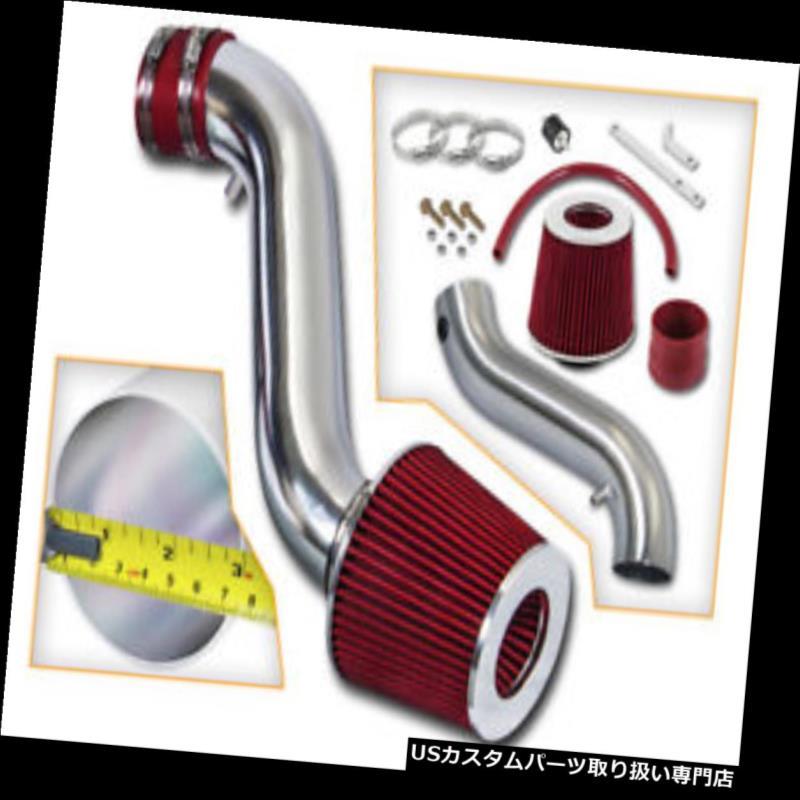 エアインテーク インナーダクト 05-09チャレンジャーマグナム3.5L V6用RAMエアインテーク+レッドフィルター RAM AIR INTAKE + RED FILTER FOR 05-09 Challenger Magnum 3.5L V6