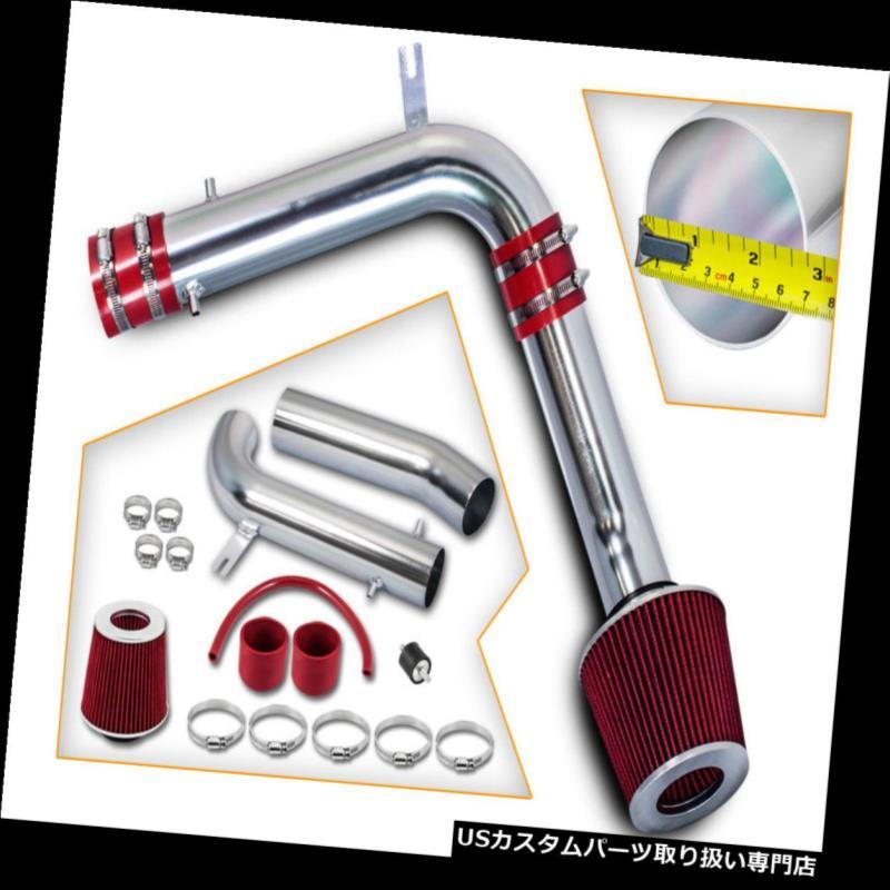 エアインテーク インナーダクト アキュラ02-03 TL V6 3.2L / 03 CL VTECのための赤の冷たい空気吸入キット+ドライフィルター RED COLD AIR INTAKE KIT+DRY FILTER FOR ACURA 02-03 TL V6 3.2L /03 CL VTEC