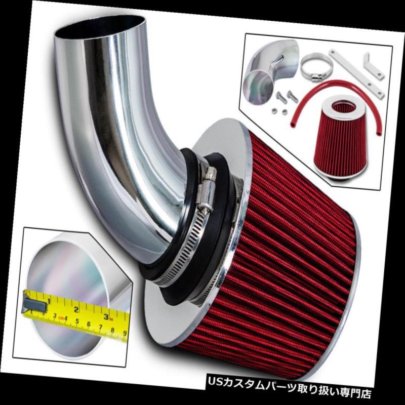 エアインテーク インナーダクト 03-06クライスラーPTクルーザー2.4Lターボ用スポーツエアインテークキット+レッドドライフィルター Sport Air Intake Kit + Red Dry Filter For 03-06 Chrysler PT Cruiser 2.4L Turbo