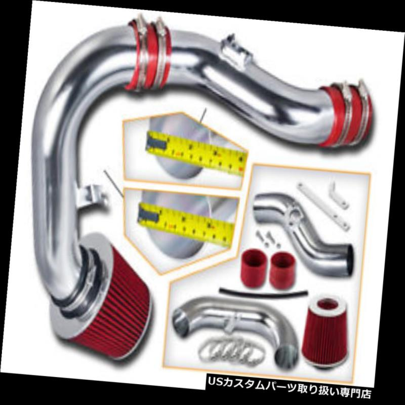 エアインテーク インナーダクト レッドコールドインダクションエアインテーク+スバル02-06インプレッサWRX 2.0L 2.5L Sti用フィルター RED COLD INDUCTION AIR INTAKE+Filter For Subaru 02-06 Impreza WRX 2.0L 2.5L Sti