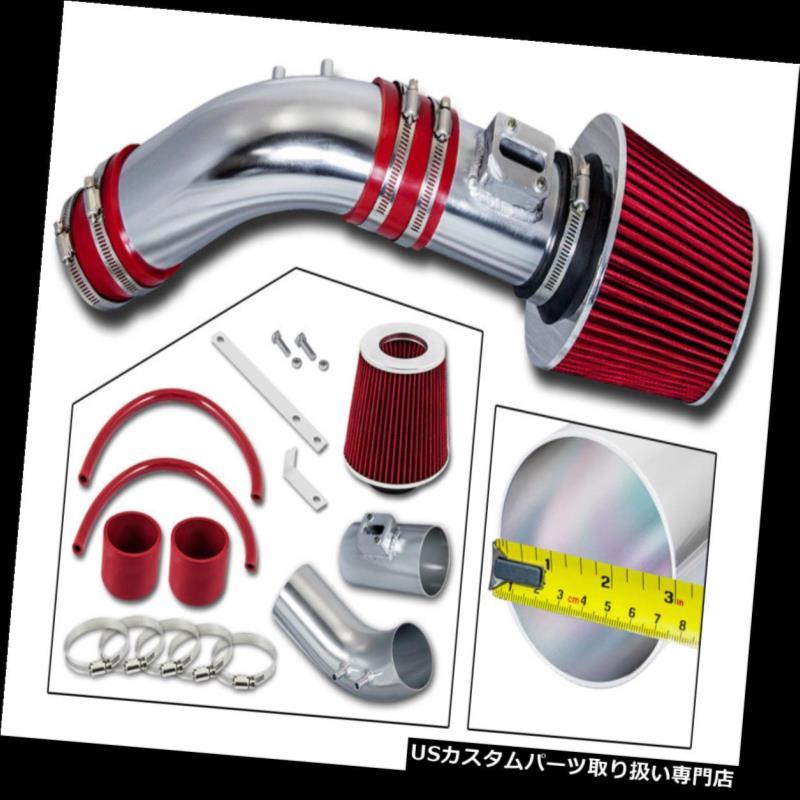 エアインテーク インナーダクト ホンダ04-07アコード2.4L SULEV L4用ショートRAMエアインテークキット+レッドフィルター SHORT RAM AIR INTAKE KIT + RED FILTER For Honda 04-07 Accord 2.4L SULEV L4