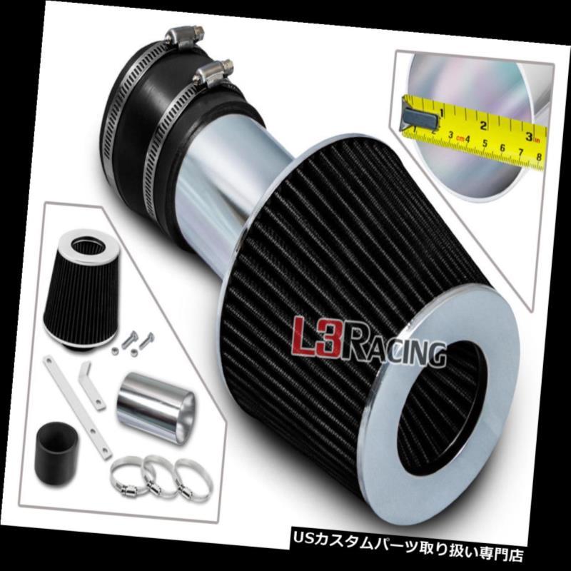 エアインテーク インナーダクト 00-05モンテカルロインパラ3.1 3.4 V 6のための短いラム空気取り入れキット+ブラックフィルター Short Ram Air Intake Kit + BLACK Filter For 00-05 Monte Carlo Impala 3.1 3.4 V6