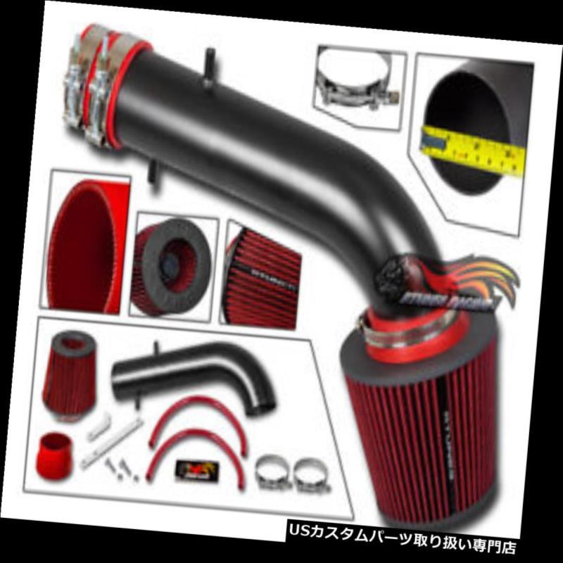 エアインテーク インナーダクト マットブラックRAMエアインテークキット+レッドフィルター(95-02用)Honda Accord V6 LX EX EX-R MATTE BLACK RAM AIR INTAKE KIT+ RED FILTER FOR 95-02 Honda Accord V6 LX EX EX-R