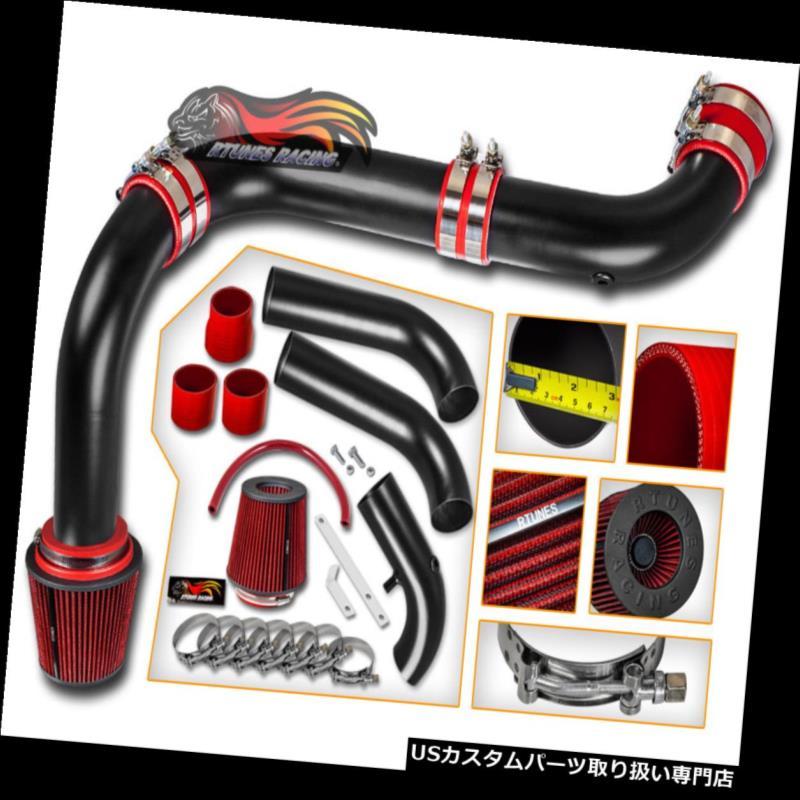 エアインテーク インナーダクト シリコンマットブラックコールドエアインテーク+ドライフィルター(DODGE 03-08用)Ram 5.7L V8 HEMI SILICONE MATTE BLACK COLD AIR INTAKE+DRY FILTER FOR DODGE 03-08 Ram 5.7L V8 HEMI