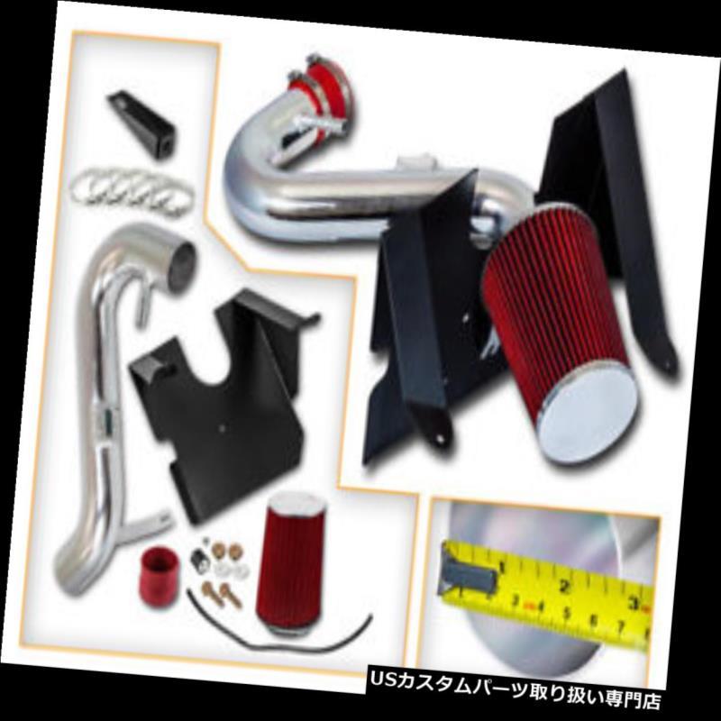 エアインテーク インナーダクト 05-09フォードマスタング4.0L V6のための赤の冷たい空気吸入キット+ドライフィルター RED COLD AIR INTAKE KIT+ DRY FILTER FOR 05-09 Ford Mustang 4.0L V6