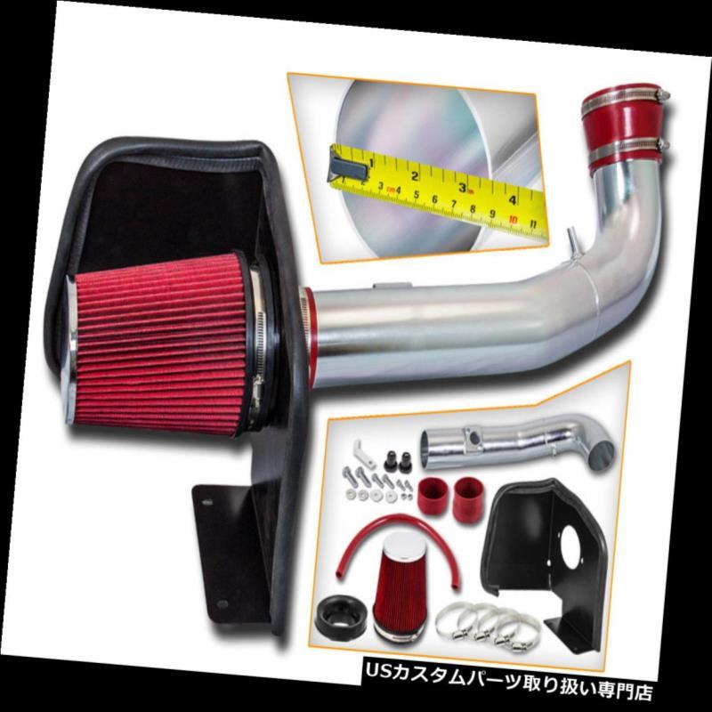 エアインテーク インナーダクト 09-14 GMC Yukon / XL 1500 Denali V8用レッドコールドヒートシールドエアインテークキット+フィルター RED Cold Heat Shield Air Intake Kit+Filter For 09-14 GMC Yukon /XL1500 Denali V8