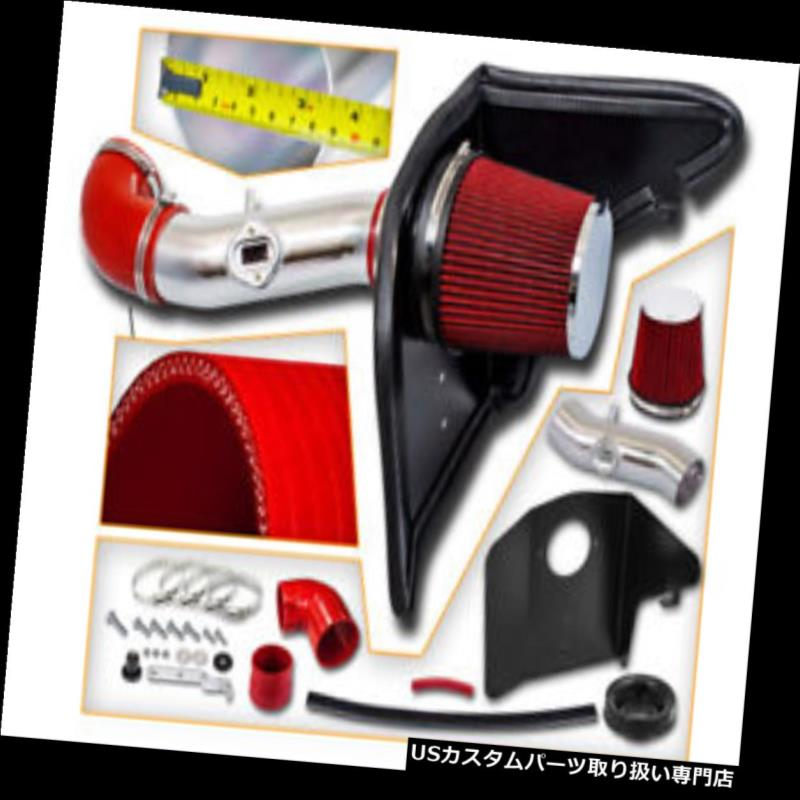 エアインテーク インナーダクト 10-11カマロ3.6L V6 LS LTのための赤い空気吸入の誘導キット+熱シールド RED Air Intake Induction Kit + Heat Shield For 10-11 Camaro 3.6L V6 LS LT