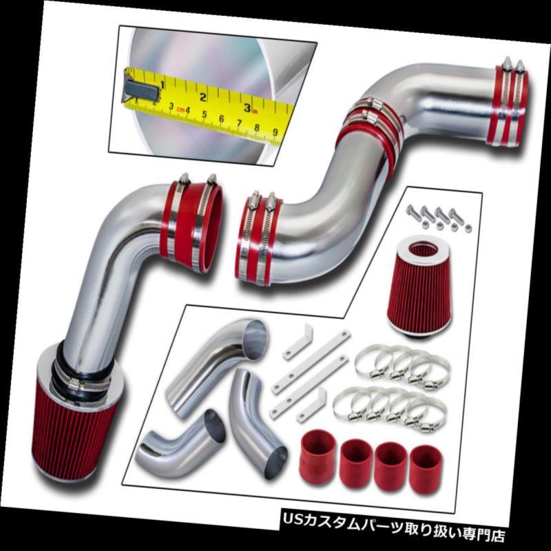 エアインテーク インナーダクト レッドコールドエアインテークキット+フィルター99-06 GMCシエラ/シボレーシルバラード1500 4.3L  RED COLD AIR INTAKE KIT + FILTER 99-06 GMC Sierra / Chevy Silverado 1500 4.3L