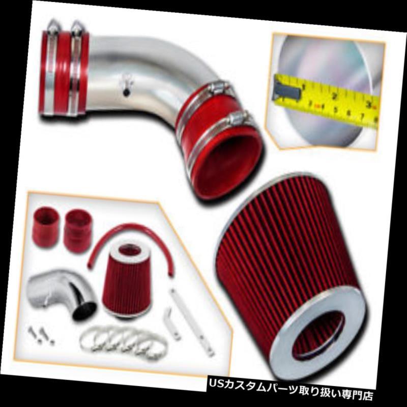 エアインテーク インナーダクト 06-07モンテカルロSS V8 5.3L用RAMエアインテークキット+レッドドライフィルター RAM AIR INTAKE KIT + RED DRY FILTER FOR 06-07 Monte Carlo SS V8 5.3L