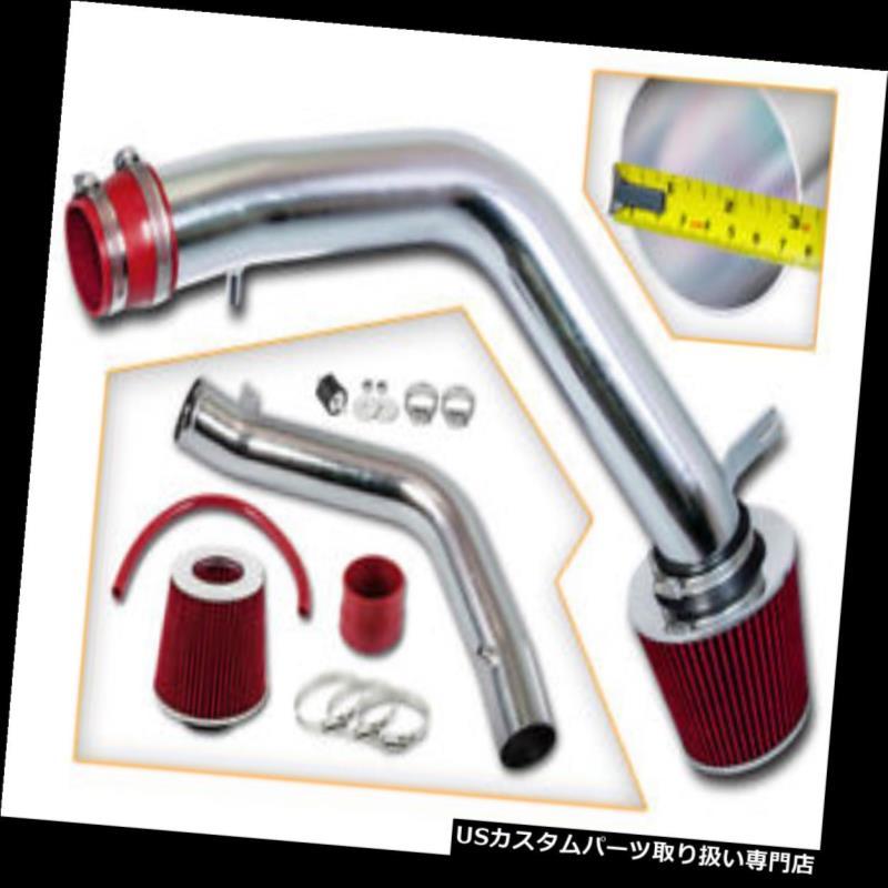 エアインテーク インナーダクト 2004-2008 Acura TL 3.2L 3.5L V6用レッドレーシングコールドエアインテークキット+フィルター RED RACING COLD AIR INTAKE KIT+FILTER FOR 2004-2008 Acura TL 3.2L 3.5L V6
