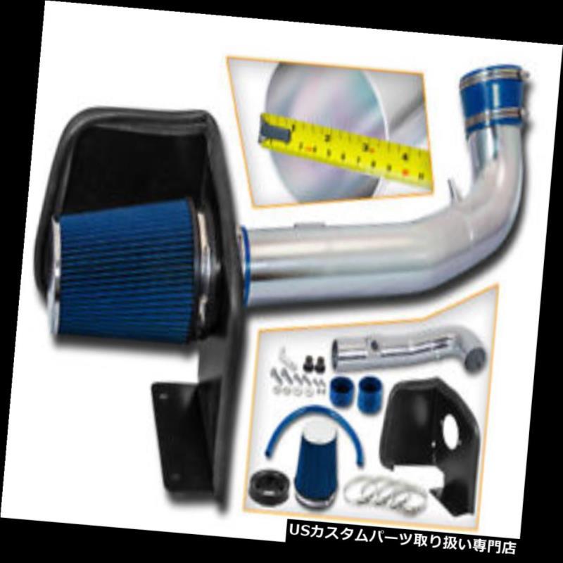 エアインテーク インナーダクト 09-11シルバラードタホ4.8L 5.3L 6.0L V8用ブルーエアインテークキット+ヒートシールド BLUE Air Intake Kit + Heat Shield For 09-11 Silverado Tahoe 4.8L 5.3L 6.0L V8