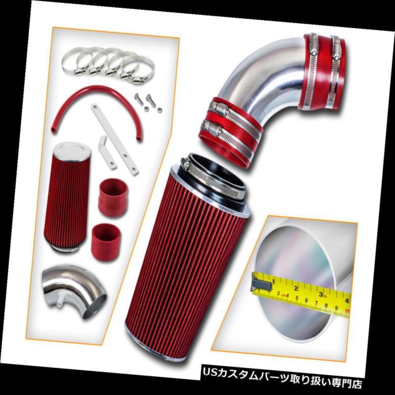 エアインテーク インナーダクト ショートラムエアインテークキット+ REDフィルターフィット10-12ジェネシスクーペ3.8L V6 Short Ram Air Intake Kit+ RED Filter Fit 10-12 Genesis Coupe 3.8L V6