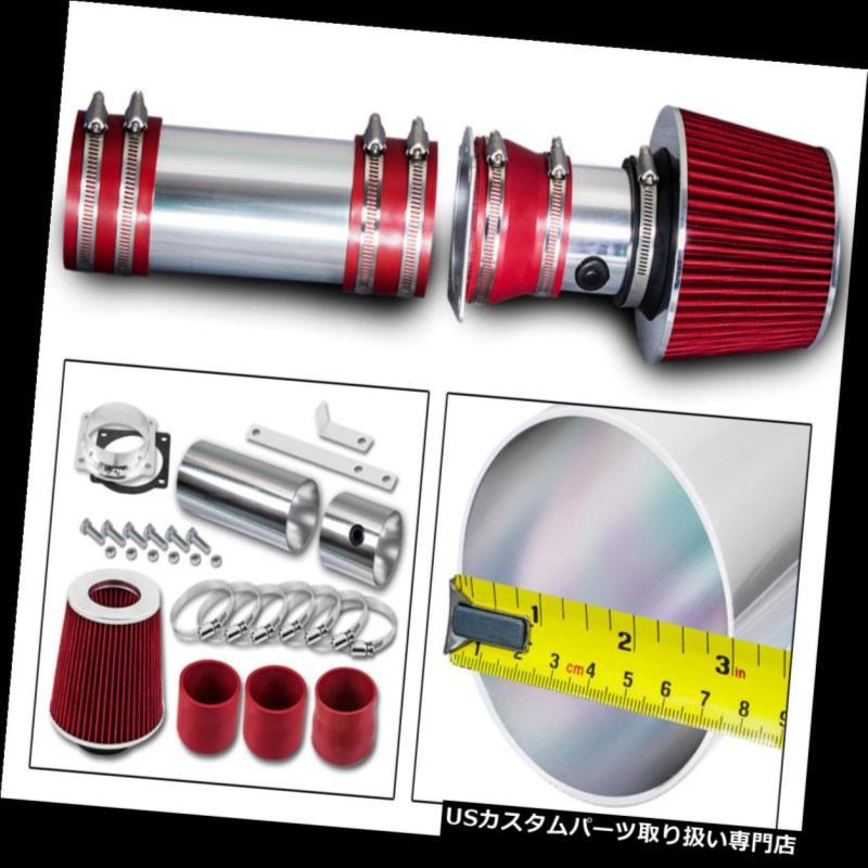 Ram Air Intake Kit BLACK Filter For 94-96 Ford F150 Bronco 5.0L 5.8L V8 w//MAF