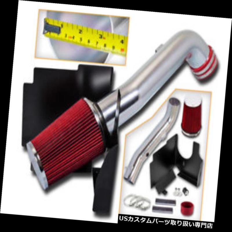 USエアインテーク インナーダクト 01-04シルバラード2500HD 3500 6.6 L V 8のための赤い空気取り入れ口キット+熱シールド RED Air Intake Kit +Heat Shield For 01-04 Silverado 2500HD 3500 6.6L V8