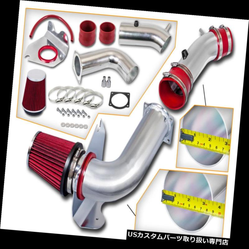 USエアインテーク インナーダクト レッドコールドエアインテークキット+ドライフィルター(フォード99-04用)マスタング3.8L V6 RED COLD AIR INTAKE KIT + DRY FILTER FOR FORD 99-04 Mustang 3.8L V6