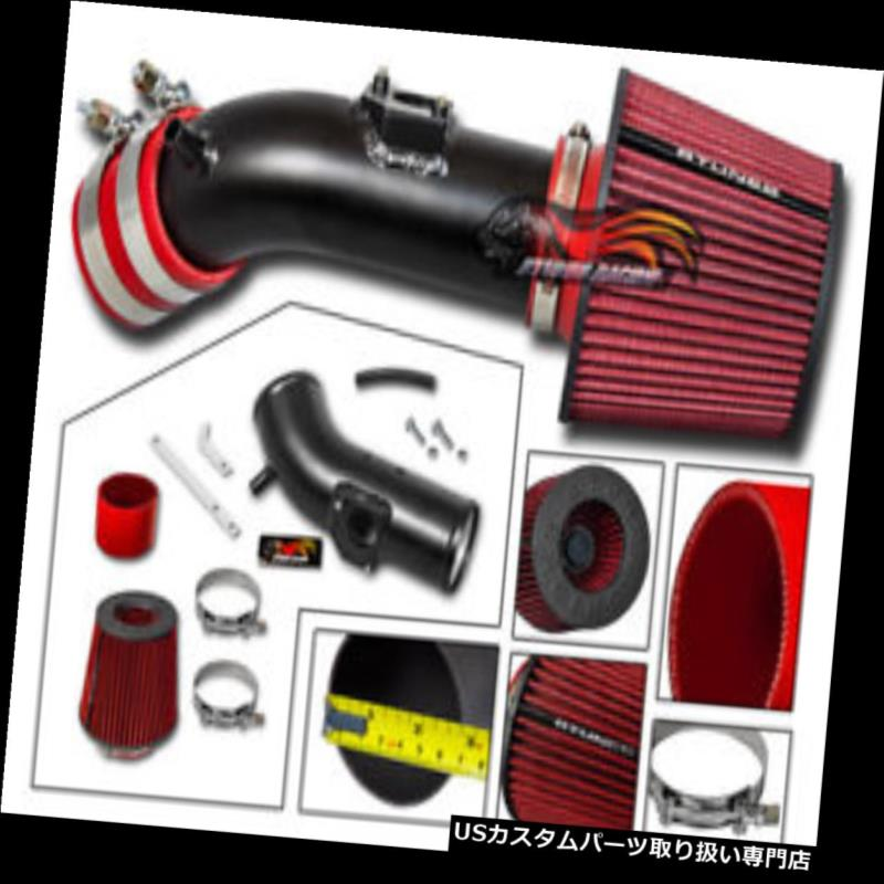 USエアインテーク インナーダクト マットブラックRAMエアインテークキット+レッドドライフィルター10-12用Mazda 3 2.5L MATTE BLACK RAM AIR INTAKE KIT+ RED DRY FILTER For 10-12 Mazda 3 2.5L