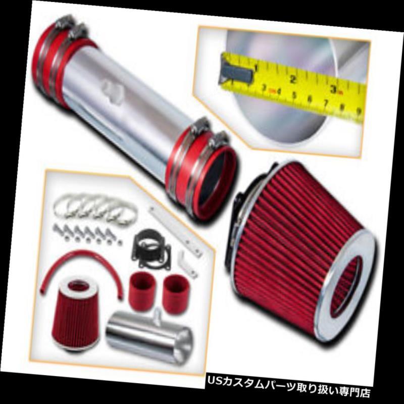 USエアインテーク インナーダクト スポーツラムエアインテークキット+ 02-06日産アルティマ/ムラーノ3.5L V6用REDフィルター Sport Ram Air Intake Kit + RED Filter for 02-06 Nissan Altima / Murano 3.5L V6