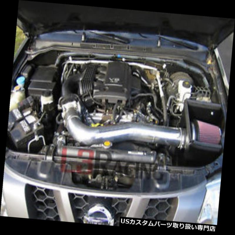 USエアインテーク インナーダクト 05-15 Xterra Frontier 4.0 L V 6用コールドヒートシールドエアインテークキット+ REDフィルター Cold Heat Shield Air Intake Kit + RED Filter For 05-15 Xterra Frontier 4.0L V6