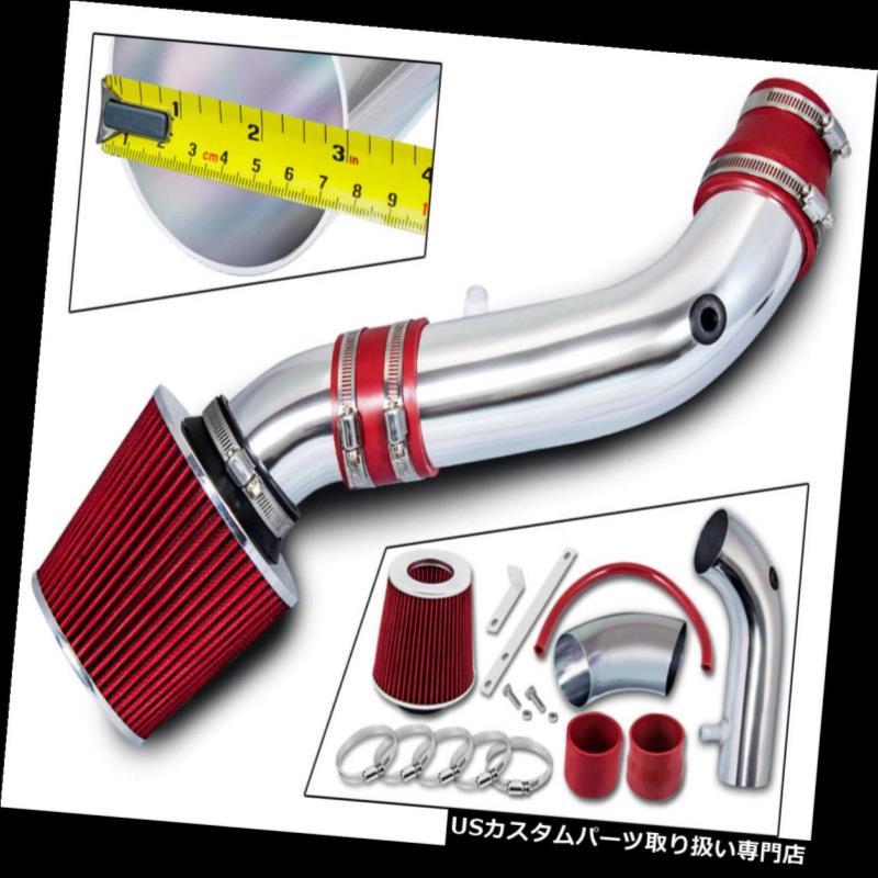 USエアインテーク インナーダクト 07-11ジープラングラー3.8L V6用ショートRAMエアインテークキット+レッドフィルター SHORT RAM AIR INTAKE KIT + RED FILTER For 07-11 JEEP Wrangler 3.8L V6