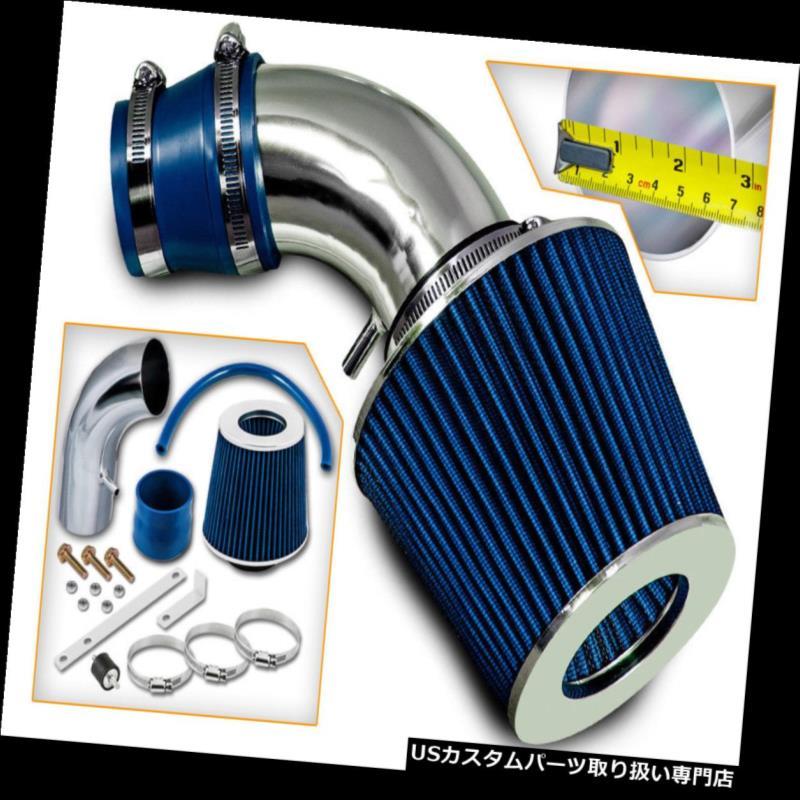 USエアインテーク インナーダクト 01-05ヒュンダイアクセント1.6 L4のための短いRam空気取り入れキット+青いフィルター Short Ram Air Intake Kit+BLUE Filter For 01-05 Hyun Accent 1.6 L4
