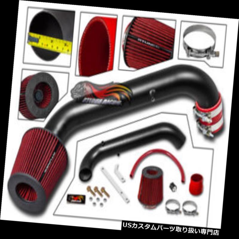 エアインテーク インナーダクト マットエアーインダクションインテークキット+ドライフィルター96-00ホンダシビックCX DX LX L4用 MATTE AIR INDUCTION INTAKE KIT +DRY FILTER For 96-00 Honda Civic CX DX LX L4