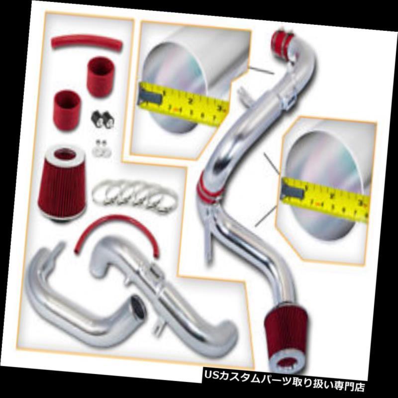 エアインテーク インナーダクト ホンダ06-11シビックDX / LX / EX 1.8Lのための赤の冷気の吸気インテークキット+ドライフィルター RED COLD AIR INDUCTION INTAKE KIT+DRY FILTER FOR HONDA 06-11 CIVIC DX/LX/EX 1.8L