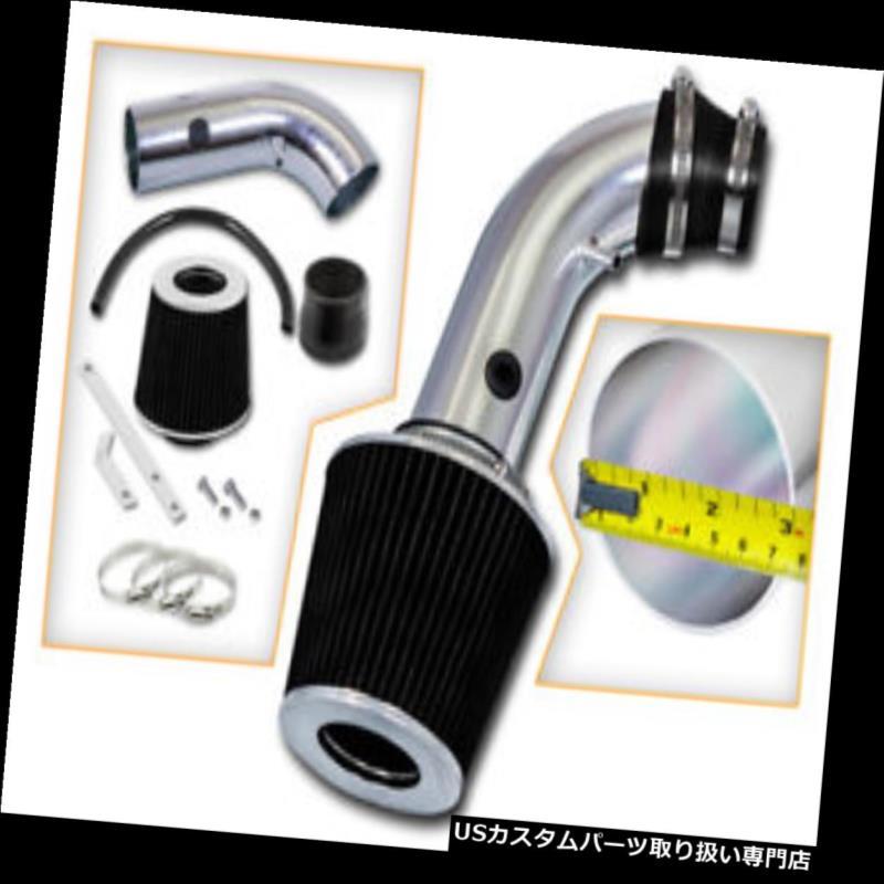 エアインテーク インナーダクト 00-02大宇Lanos 1.5L 1.6L L4のための短いRam空気取り入れ口のキット+黒いフィルター Short Ram Air Intake Kit + BLACK Filter For 00-02 Daewoo Lanos 1.5L 1.6L L4