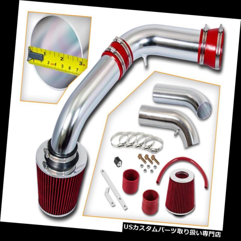 エアインテーク インナーダクト RAMエアインテークキット+レッドドライフィルター02-08 Ram1500ピックアップ3.7L 4.7L RAM AIR INTAKE KIT + RED Dry Filter For 02-08 Ram1500 Pickup 3.7L 4.7L