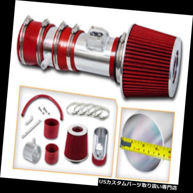 エアインテーク インナーダクト Ramエアインテークキット+ 12-17アカディアエンクレーブトラバース3.6L V6用REDドライフィルター Ram Air Intake Kit + RED Dry Filter for 12-17 Acadia Enclave Traverse 3.6L V6