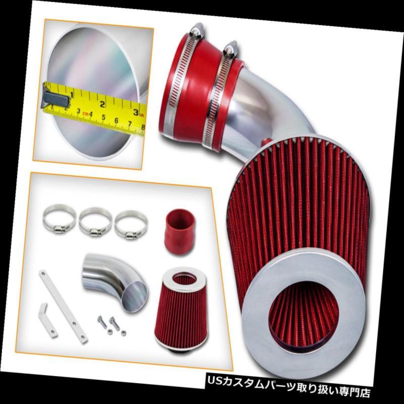 エアインテーク インナーダクト 97-01 Cadillac Catera 3.0L V6用レーシングエアインテークキット+ RED DRYフィルター Racing Air Intake Kit + RED DRY Filter For 97-01 Cadillac Catera 3.0L V6