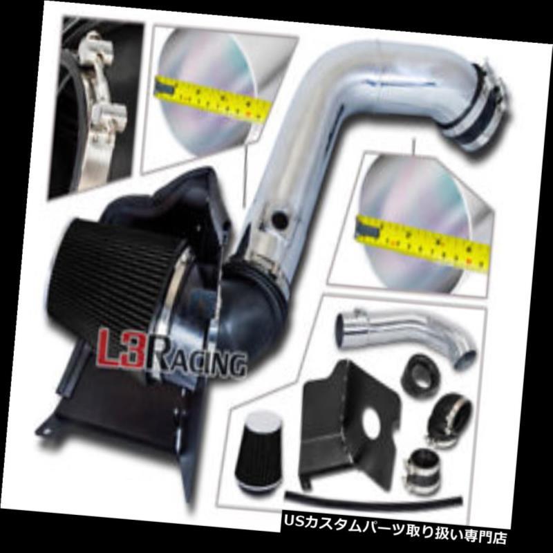 エアインテーク インナーダクト 04-05 SIERRA 2500 3500 6.6 V 8 LLY用ブラックエアインテークキット+ヒートシールド BLACK Air Intake Kit + Heat Shield For 04-05 SIERRA 2500 3500 6.6 V8 LLY