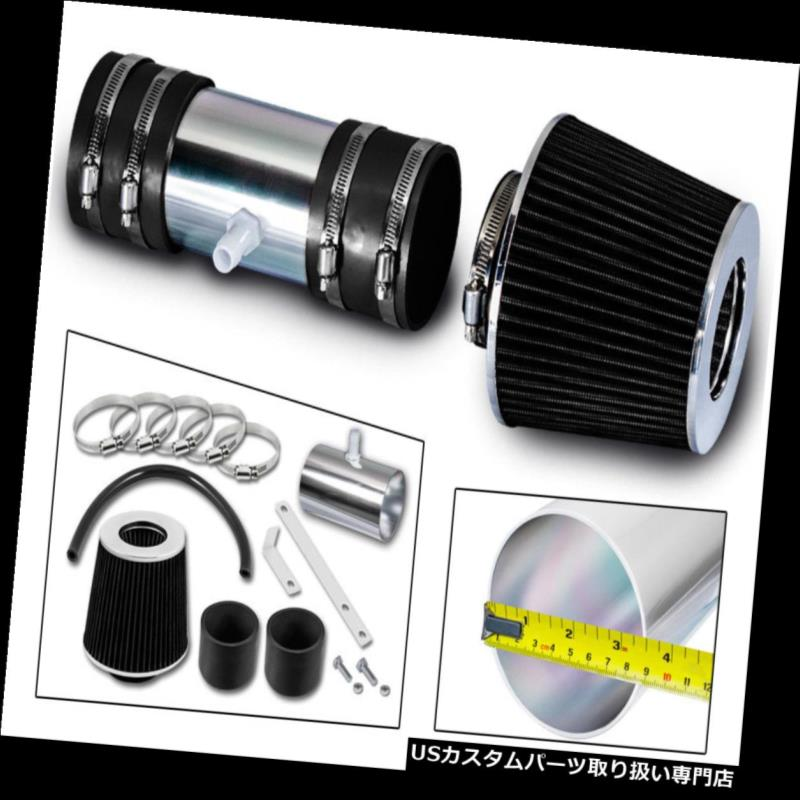"3/"" BLACK Short Ram Air Intake Filter For 05-10 Cobalt//08-12 Malibu 2.2L//2.4L L4"