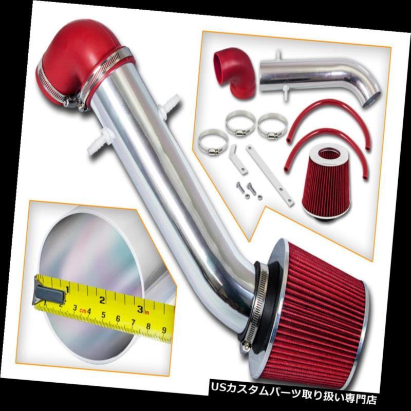 エアインテーク インナーダクト 91-95 JEEPラングラー2.5 L4& A 4.0 I6ショートRAMエアインテークキット+レッドフィルター 91-95 JEEP Wrangler 2.5 L4 & 4.0 I6 SHORT RAM AIR INTAKE KIT + RED FILTER