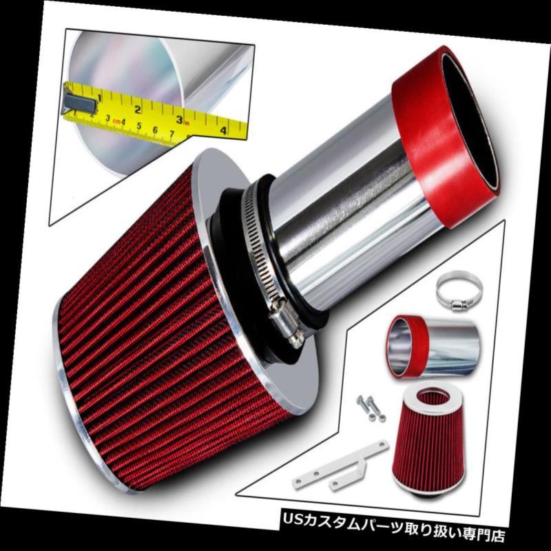エアインテーク インナーダクト スポーツエアインテークキット+ 93-04クライスラー300M LHS Vision 3.3 3.5用レッドドライフィルター Sport Air Intake Kit + Red Dry Filter For 93-04 Chrysler 300M LHS Vision 3.3 3.5