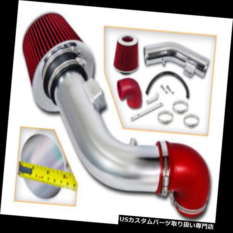 エアインテーク インナーダクト 07-10ポンティアックG5ベース/ SE / GT 2.2L 2.4L L4用スポーツエアインテークキット+レッドフィルター SPORT AIR INTAKE KIT + RED FILTER FOR 07-10 Pontiac G5 Base/SE/GT 2.2L 2.4L L4