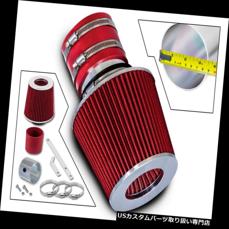 エアインテーク インナーダクト 96-01用セフィア1.6 1.8 L4 / 02-05セドナ3.5 V6ラムエアインテークキット+ REDフィルター For 96-01 Sephia 1.6 1.8 L4 / 02-05 Sedona 3.5 V6 Ram Air Intake Kit+ RED Filter