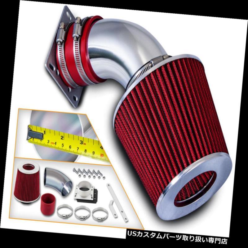 エアインテーク インナーダクト 92-95 BMW 318 318i 318is 318ti 1.8 L4用ショートラムエアインテークキット+ REDフィルター Short Ram Air Intake Kit+ RED Filter For 92-95 BMW 318 318i 318is 318ti 1.8 L4
