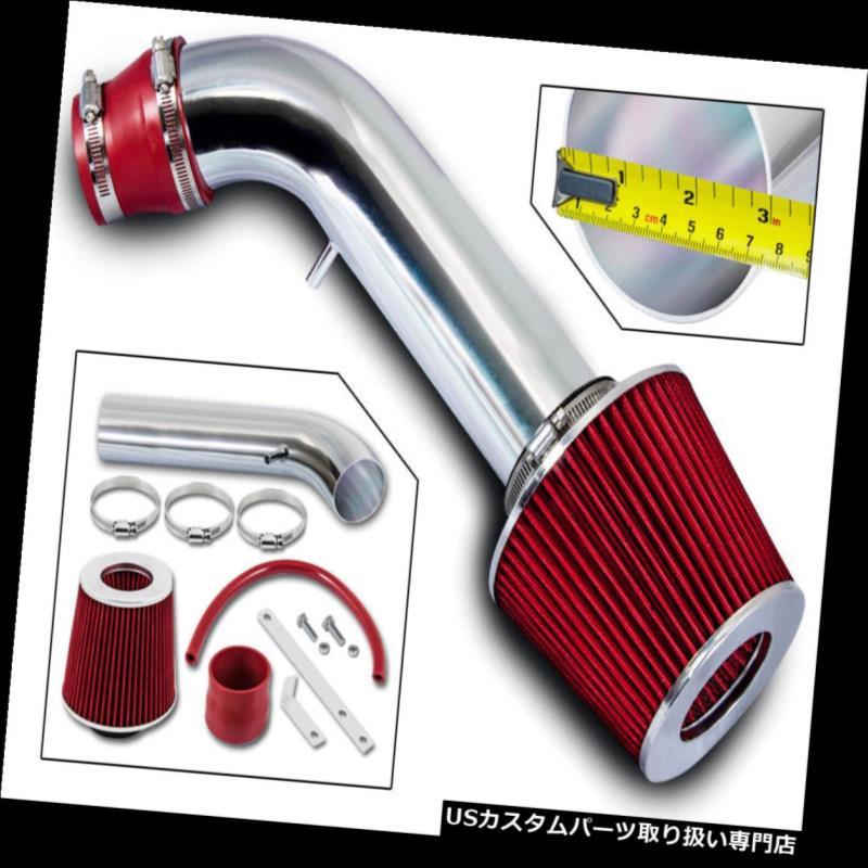 エアインテーク インナーダクト いすゞロデオ/トルーパー3.2 V6 SOHCショートラムエアインテークキット+ REDフィルター 93-95 Isuzu Rodeo/Trooper 3.2 V6 SOHC Short Ram Air Intake Kit +RED Filter